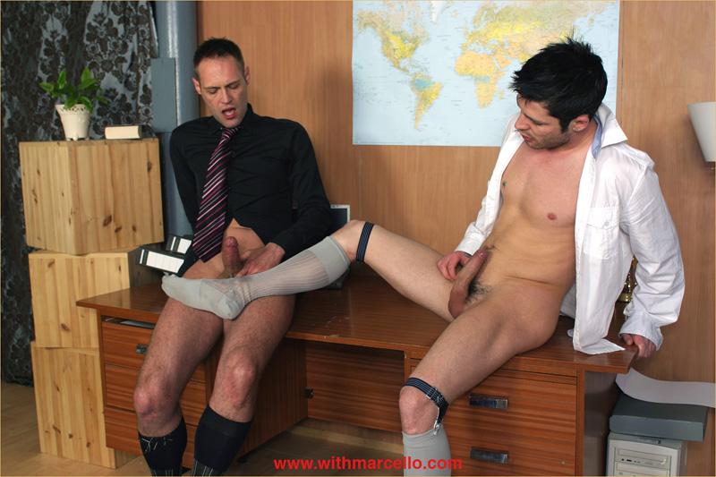 Amazing Studs Sucking At The Office