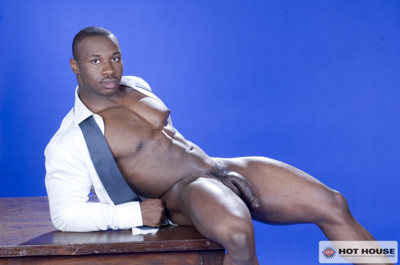 Black muscle man Marc Williams naked at Suck A Boner