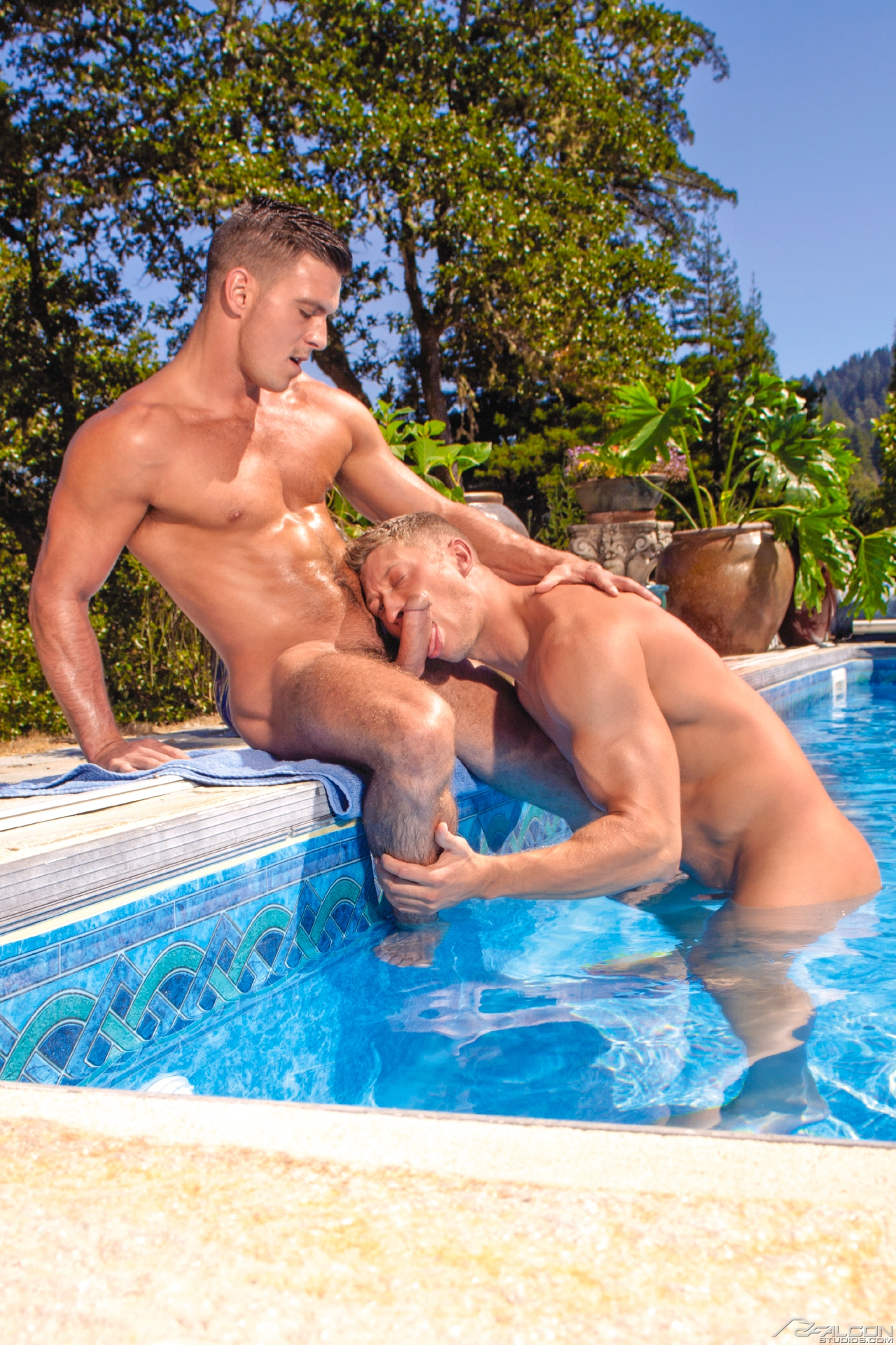 Anal gay pool sex and straight men licking 10