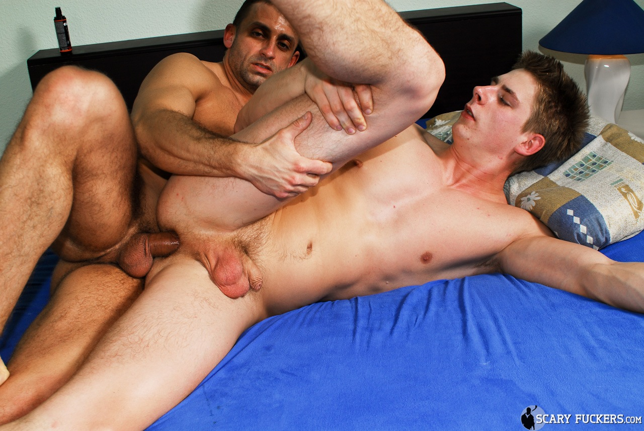 A gay twink gangbang by older men and soft 3