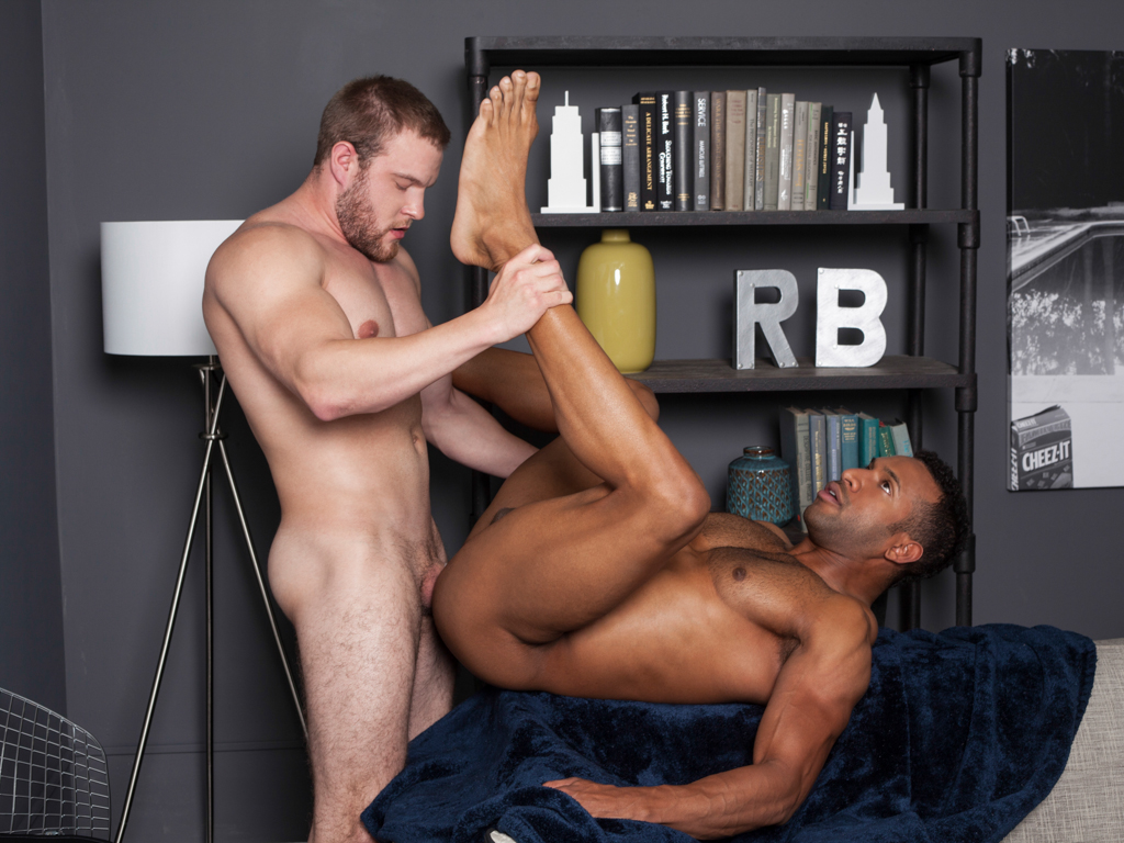 Muscle gay anal and facial cum