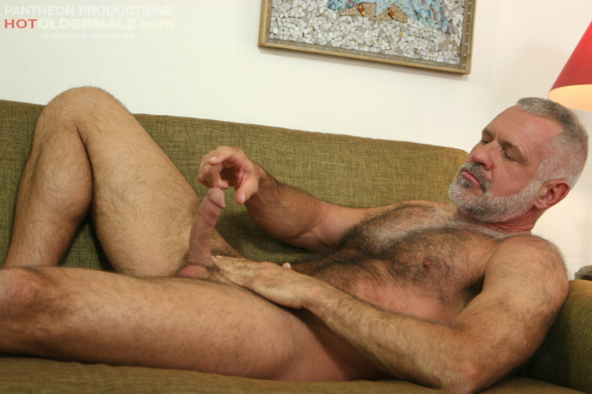Mature male sex in the woods and old guy
