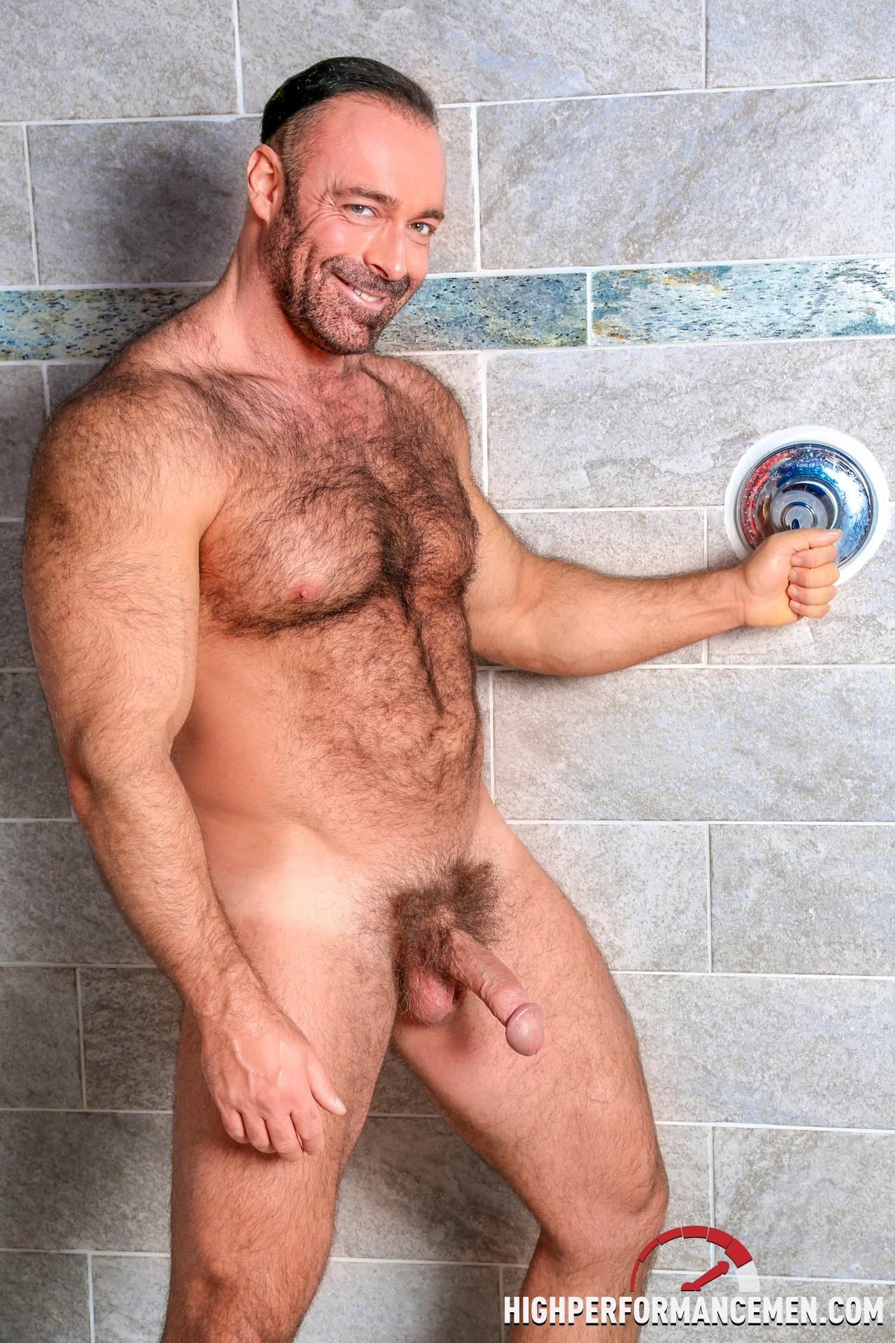image Hairy gay muscle sex teacher is sitting at