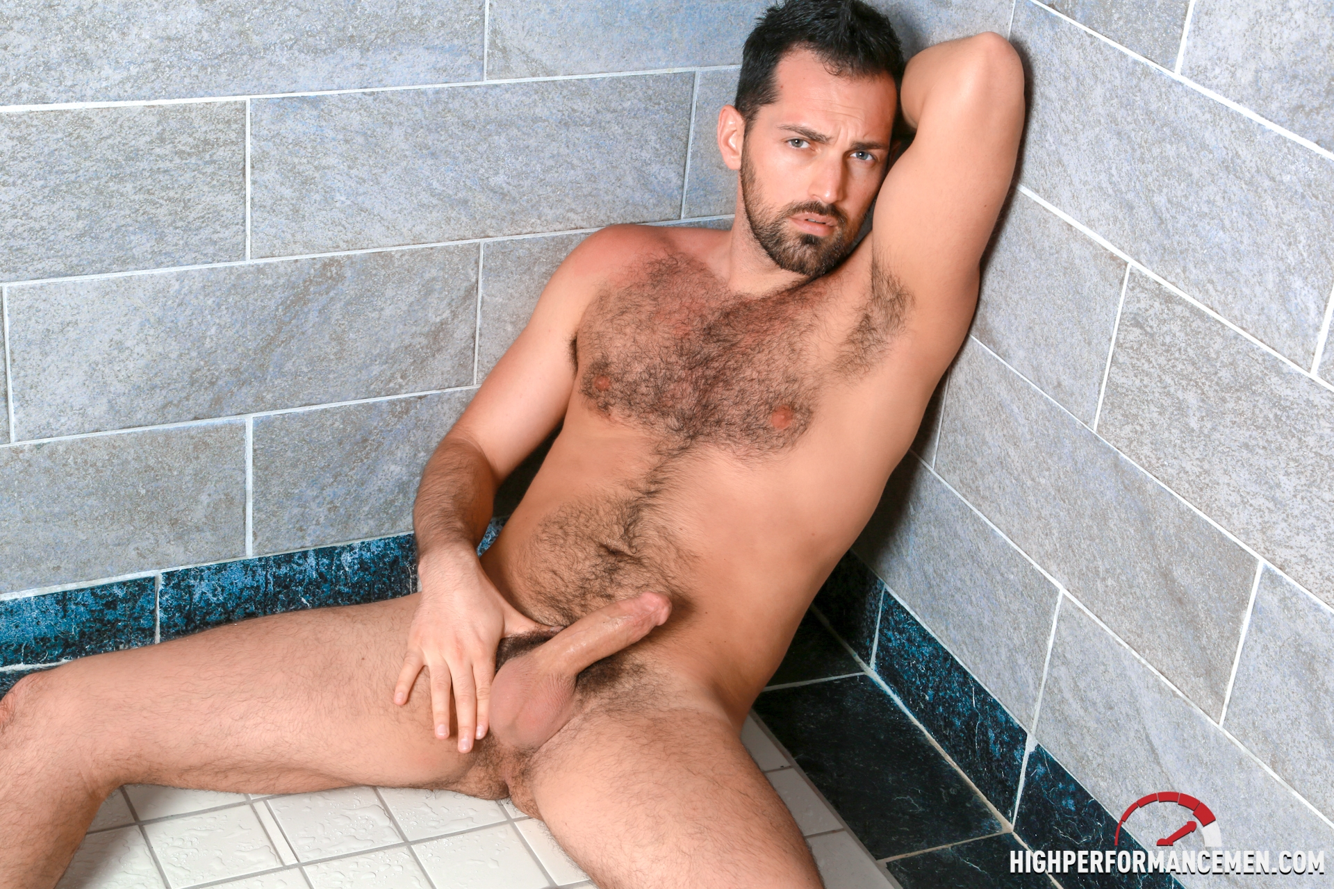 Gay men with hairy chest he deep throats 6