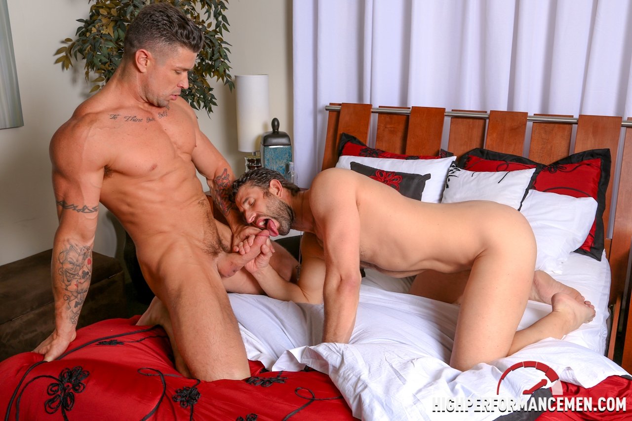 Rimming anal sex gay sex uncut cock hairy