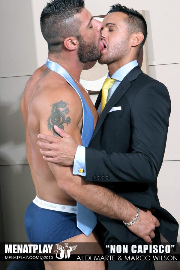 Gay men in football gear